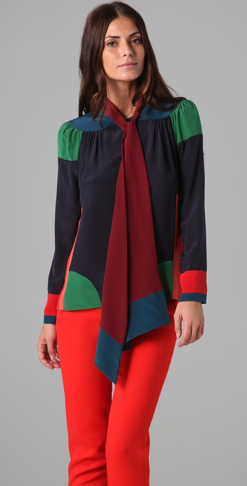 Neck tie blouse for fall 2011