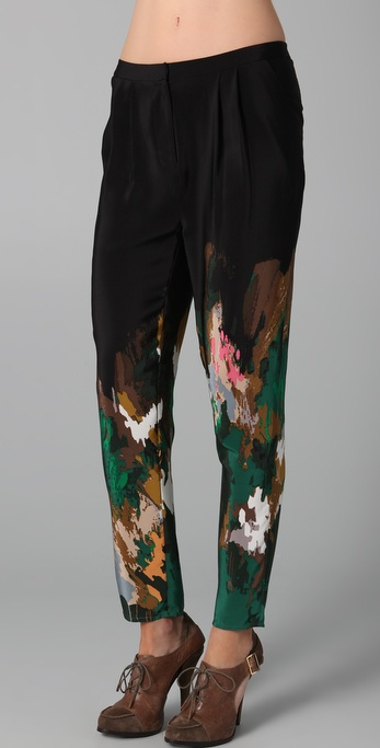 Relaxed printed paint for Fall 2011
