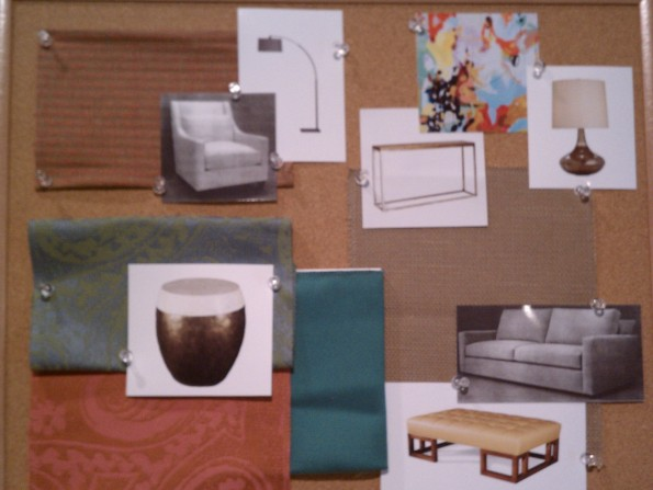 Mill Street design board for living room
