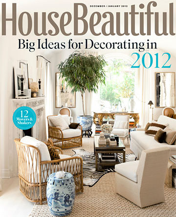 House Beautiful December 2011 cover