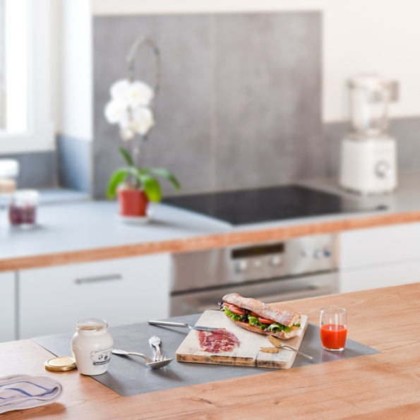 Close up of Paris Apartment kitchen