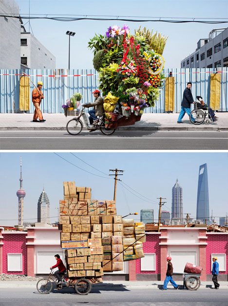 bicycle courier in china