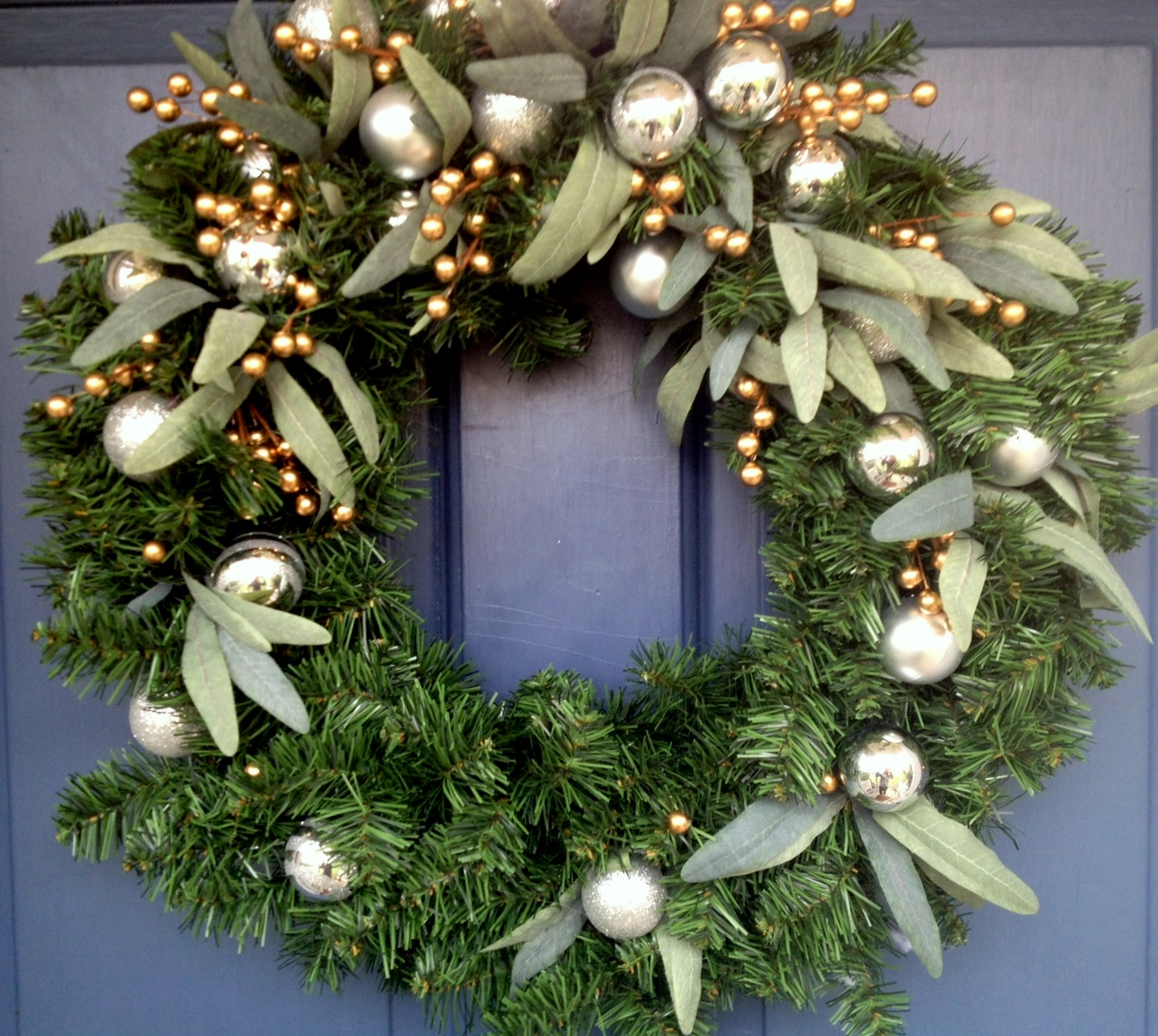 Diy Christmas Wreath Via Martha Stewart Cline Rose
