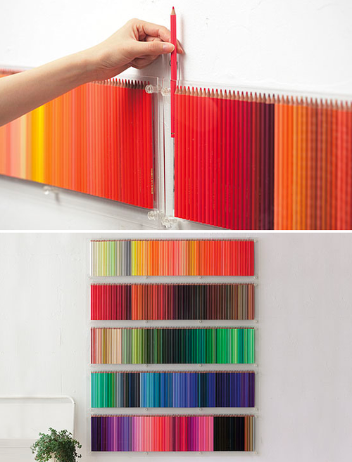 Colored pencil wall art