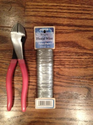 Wire cutters and floral wire from Michael's